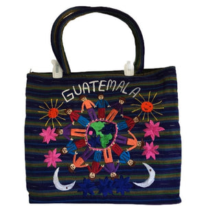 Guatemala Decorative 1 Large Tote Plus 2 Small Bags