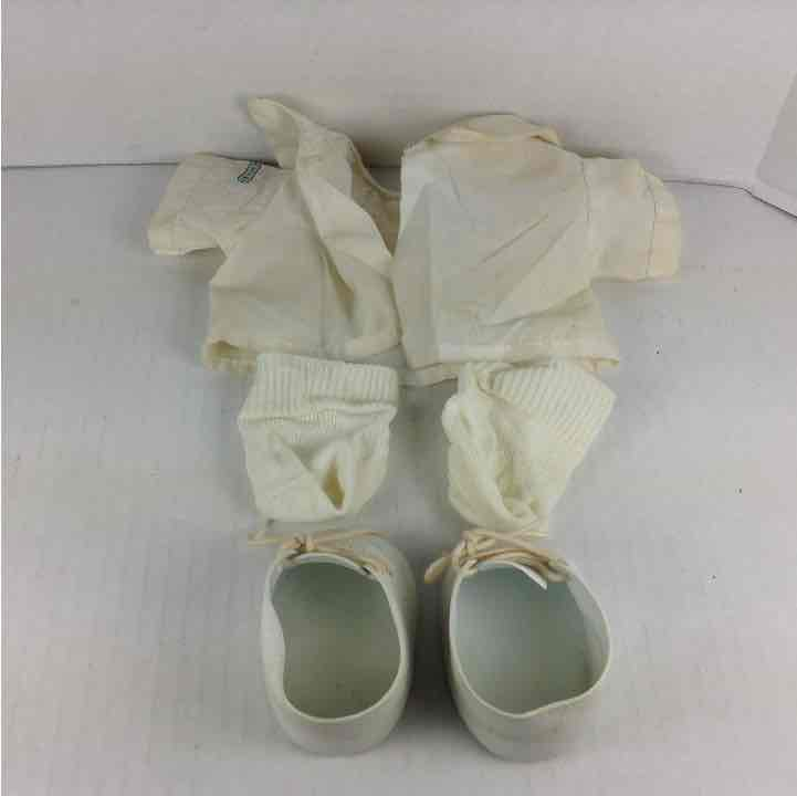 Cabbage Patch Kids CPK White Shirt + Socks + Shoes