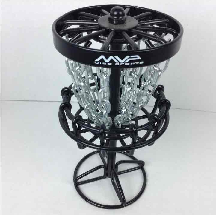 "MVP Black Hole 6"" Micro Mini Portable Disc Golf 12 Chain Basket"