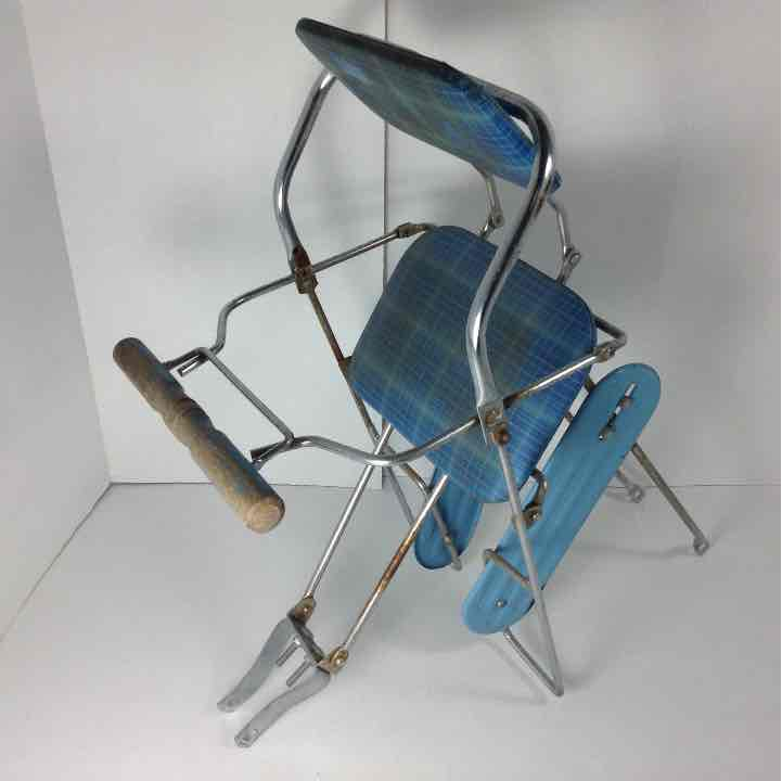 Vintage Schwinn Baby Childs Blue Bicycle Rear Bike Seat