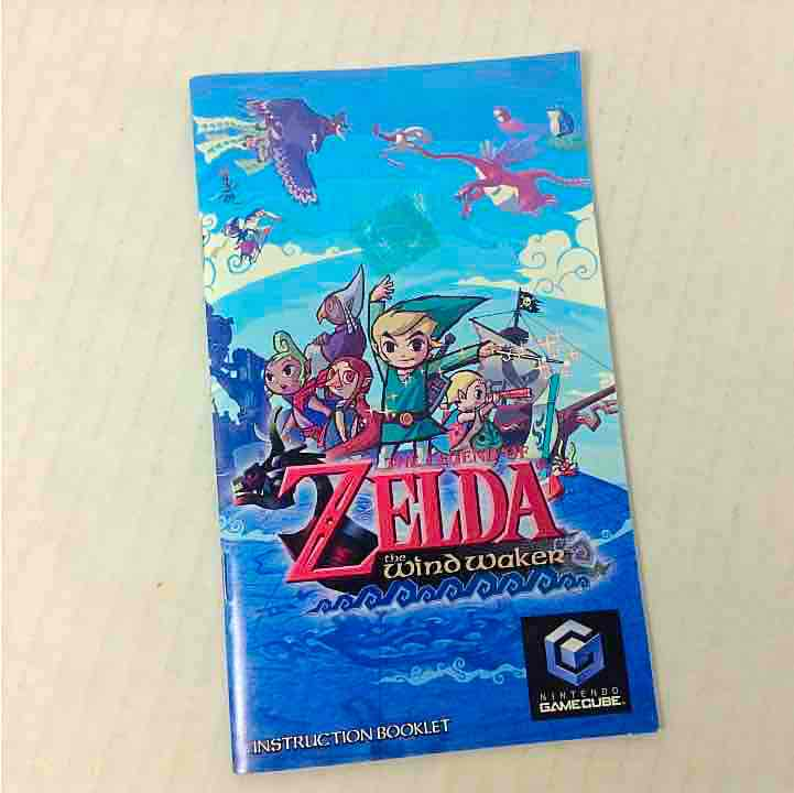 The Legend Of Zelda The Wind Waker Nintendo Gamecube Manual Only