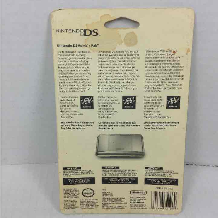 NEW Nintendo DS Rumble Pack OEM