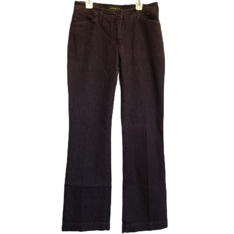 Eddie Bauer Womens Boot Cut Purple Jeans
