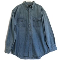 Croft & Barrow Womens Denim Button Down Long Sleeve Shirt