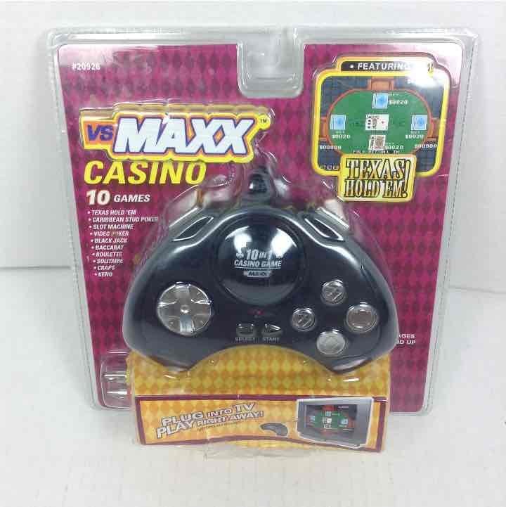 New VS Maxx Hand Held TV Plug and Play 10 in 1 Casino Games