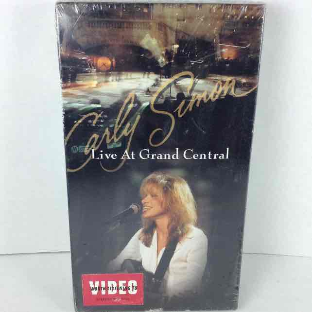 New Carly Simon Live at Grand Central 1995 Polygram VHS Video Tape