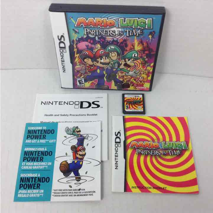 Mario & Luigi: Partners In Time Nintendo DS Complete Game, Case and Manual