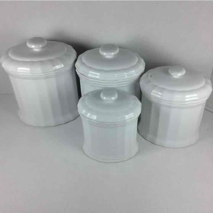 Alcobaca Ceramic Kitchen Canister 4 PC Set