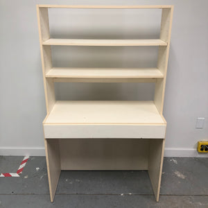 "61.5"" Off White Desk W/ Hutch"