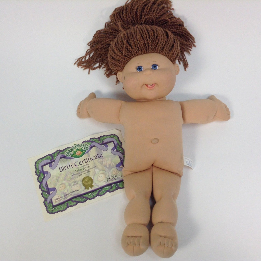 Cabbage Patch Kids CPK 2004 Jolie Ryan Doll Long Brown Hair Blue Eyes Aug. 30