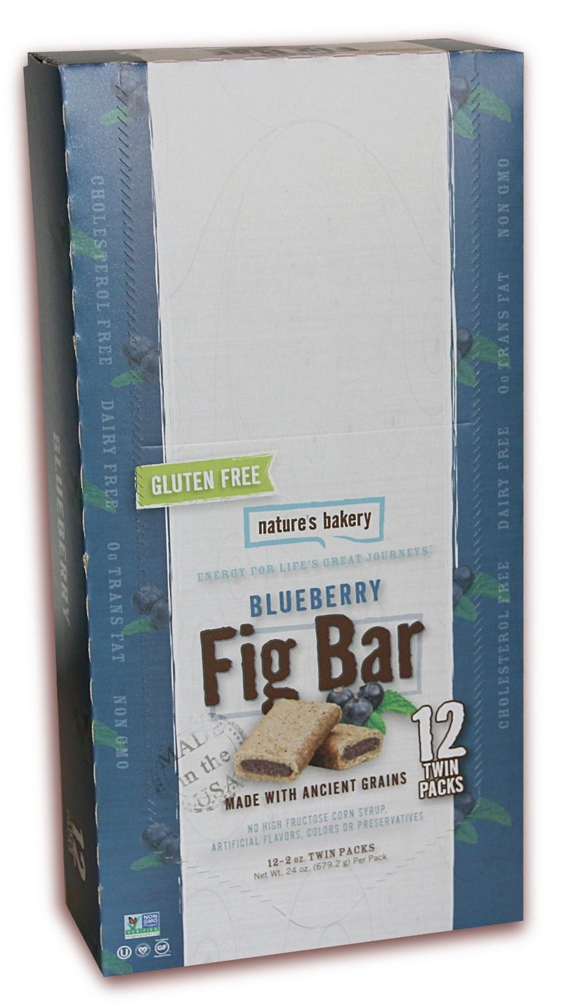 Natures Bakery Gluten Free Blueberry Fig Bars 12 Pack