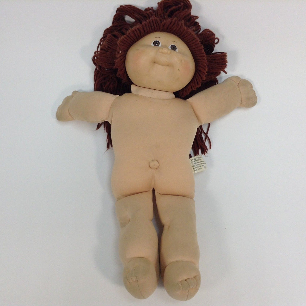 Cabbage Patch Kids CPK Doll Brown Eyes Long Brown Red Hair