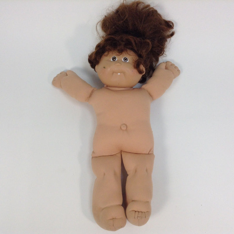 Cabbage Patch Kids CPK Brown Life Like Real Hair Brown Eyes One Tooth