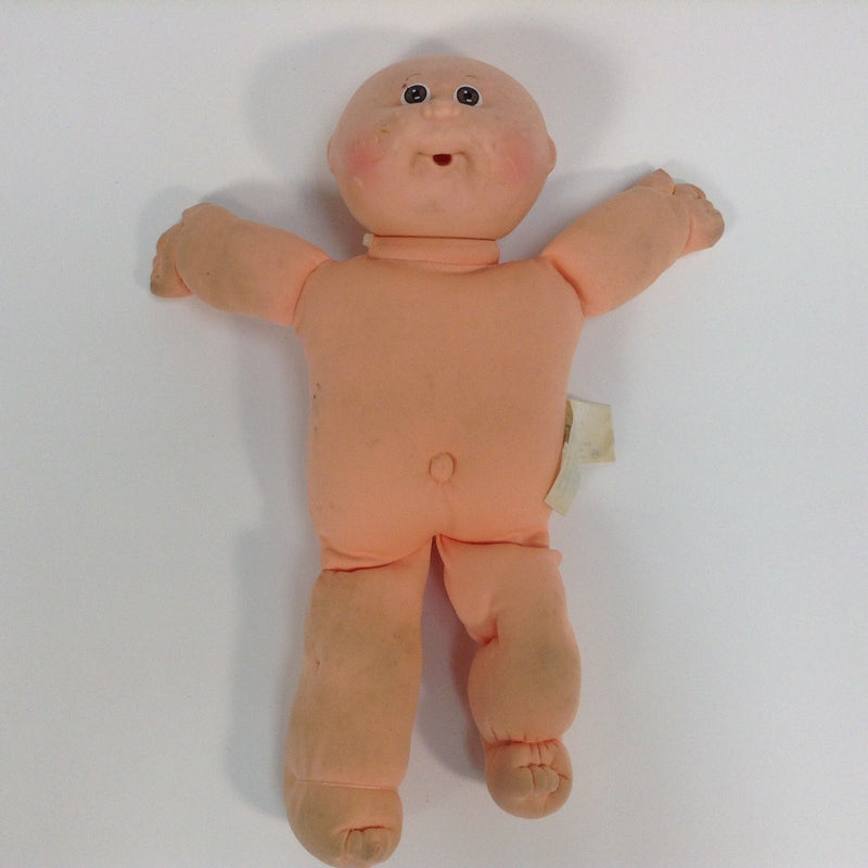Cabbage Patch Kids CPK Doll Preemie Baby Bald Brown Eyes Open Mouth