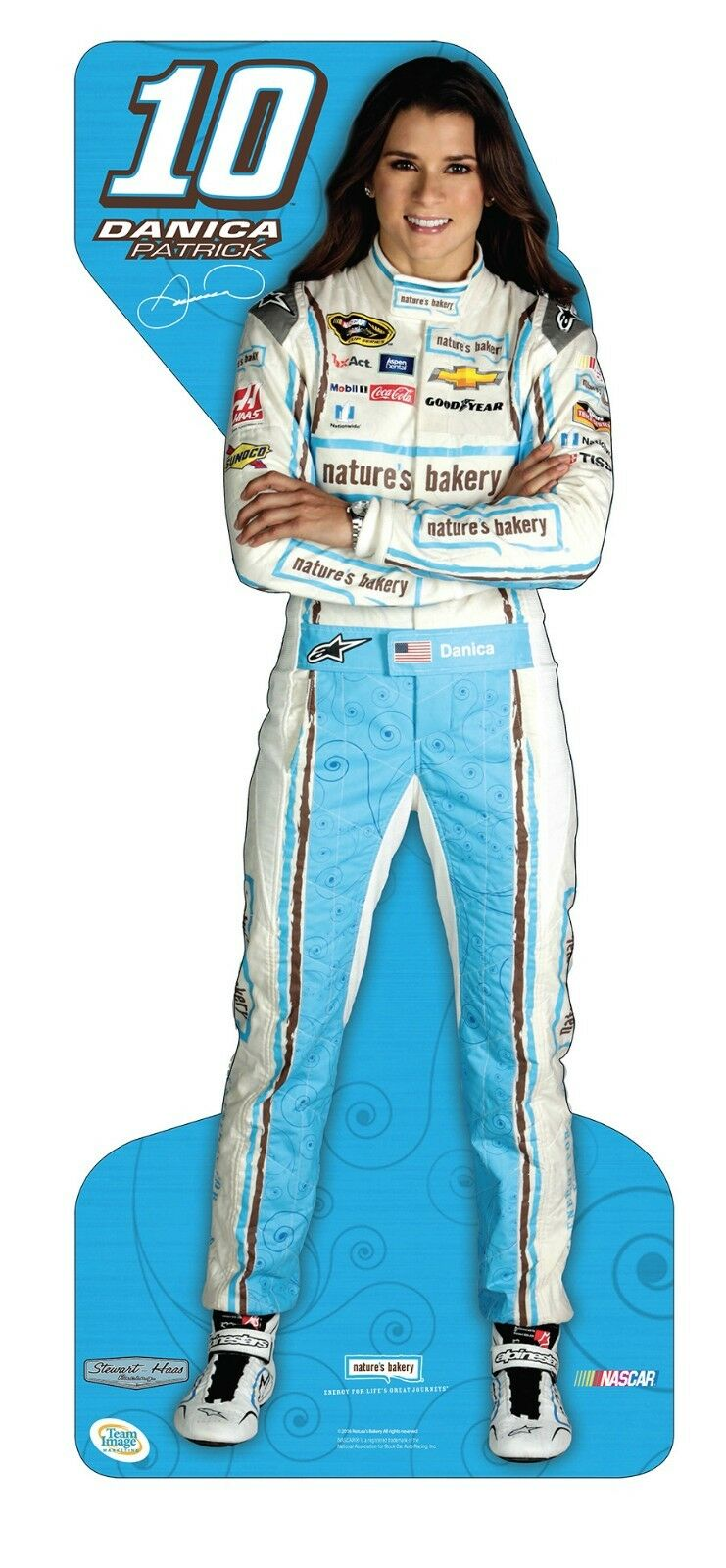 Danica Patrick #10 Natures Bakery Life Size Stand Up