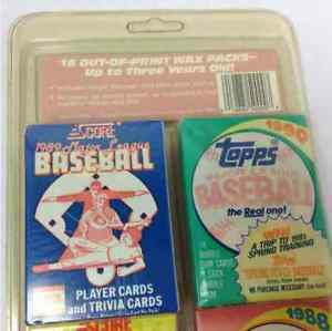 Out of Print Wax Baseball Cards Topps Score Donruss 16 Pack