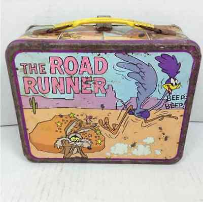 The Road Runner 1970s Thermos Metal Lunch Box