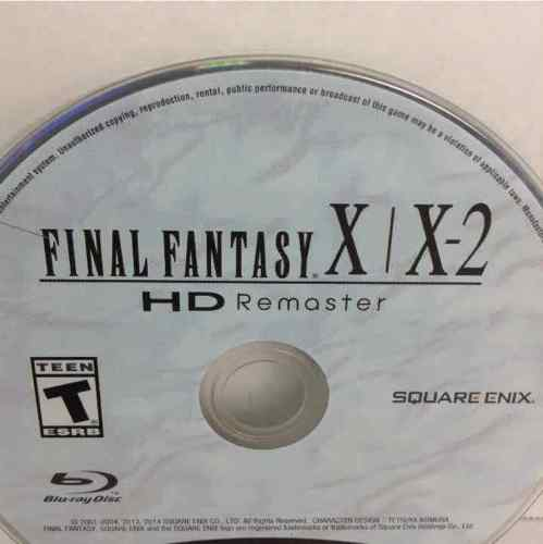Final Fantasy X X-2 HD Remaster Sony PlayStation 3 PS3 Disc Only