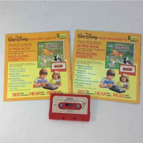 Disney Snow White And The Seven Dwarfs & Peter Pan Read Along Books & Cassette
