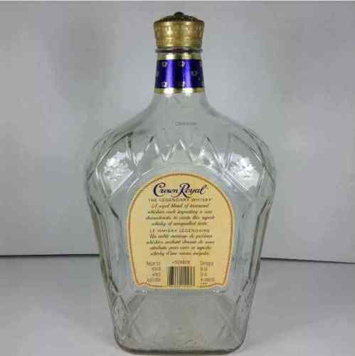 "Crown Royal 3 Liter Empty Whisky Bottle 12"" x 7.5"""