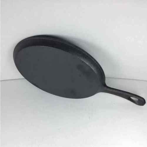 New 14x7 in. Cast Iron Skillet Frying Oval Pan