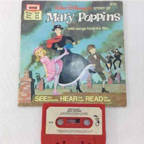 Disney Its A Small World & Mary Poppins Read Along Books & Cassette