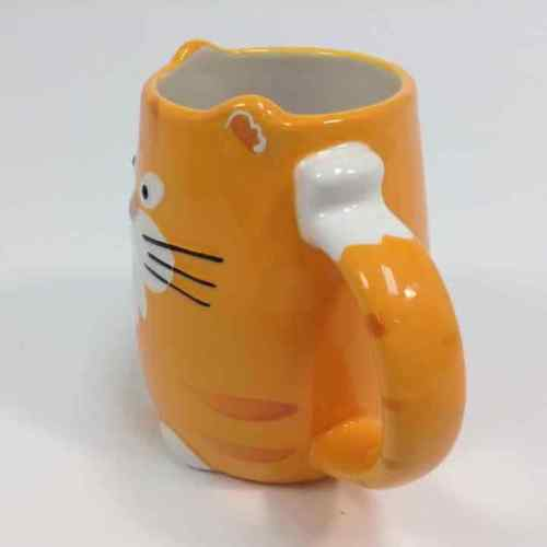 TAG Orange 3D Kitty Cat 16 oz. Coffee Mug Tea Cup