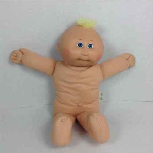 Cabbage Patch Kids CPK Doll Preemie Tuft Blonde Hair Blue Eyes