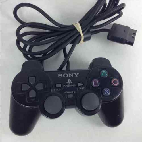 Sony Playstation 2 PS2 OEM Black Dualshock Controller FOR PARTS AS IS