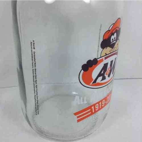 A&W Root Beer All American Food 1919-2018 Cheers To 99 Years 1/2 Gallon Glass Jug