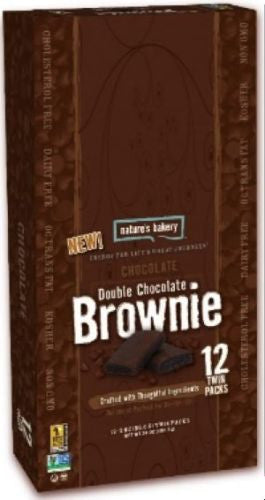 Natures Bakery Double Chocolate Brownie Bars 12 Pack