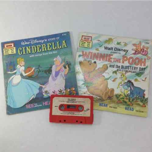 Disney Winnie The Pooh And The Blustery Day & Cinderella Read Along Books