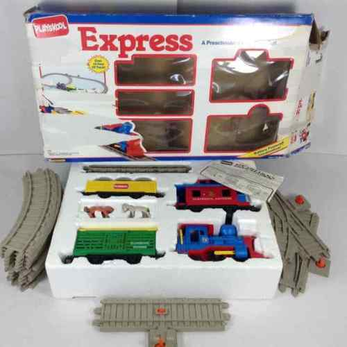 Playskool Express 1991 Toy Train Set