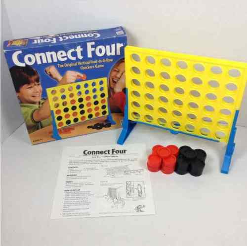 Hasbro Connect Four Vertical 4-in-a-Row Checkers Game 2002 Complete