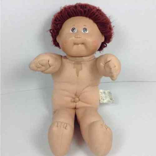 Cabbage Patch Kids CPK Doll Brownish Red Hair One Tooth