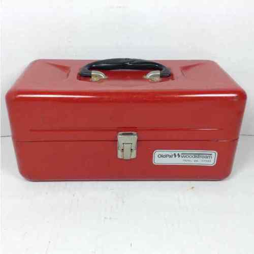 Old Pal Woodstream Metal Red Tackle Box
