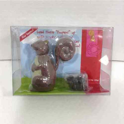 New Poopin Pets Squirrel Candy Dispenser
