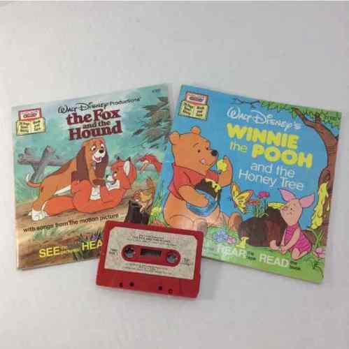 Disney Winnie The Pooh And The Honey Tree & The Fox & The Hound Read Along Books