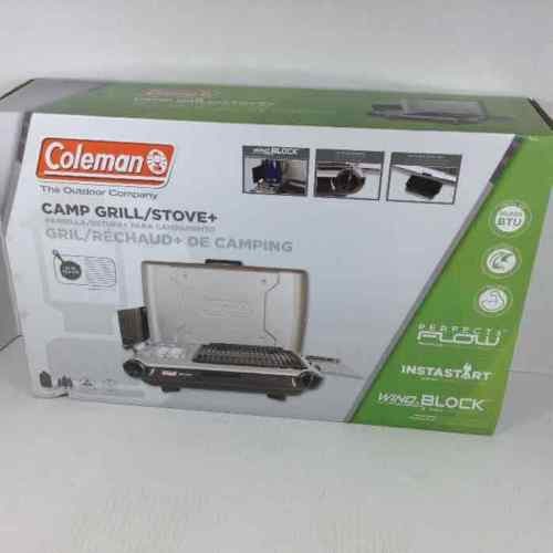 New Coleman Camp Propane Grill/Stove+ w/ Shipping Box