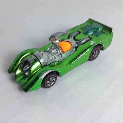 Hot Wheels 1970 Jet Threat Green Diecast Metal Car