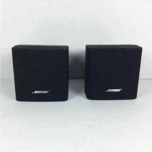 (2) Bose Cubed Black 4x3 Mini Speakers