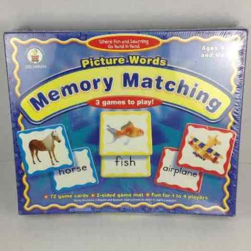 New Picture Words Memory Matching Board Card Game