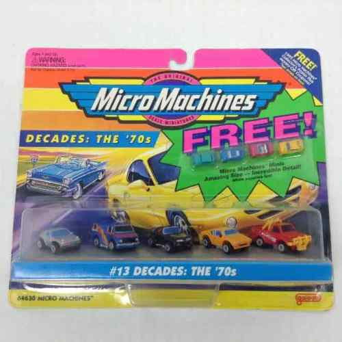 New Micro Machines 1995 The Original Scale Miniatures #13 Decades: The '70s Mini