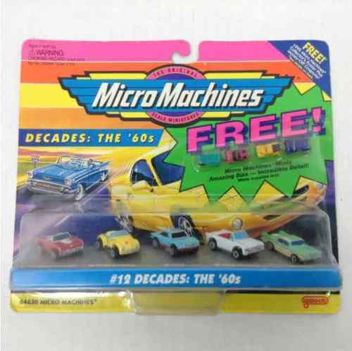 New Micro Machines 1995 The Original Scale Miniatures #12 Decades: The '60s Mini Cars 64630