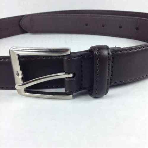 "New Beverly Hills Polo Club Mens Brown Bonded Leather 44"" Waist Belt C-2670"