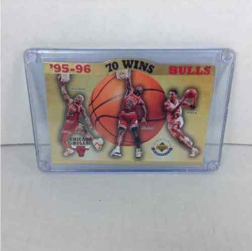 Chicago Bulls 95-96 70 Wins Upper Deck Limited Edition 3,291/10,000 6x4 Card