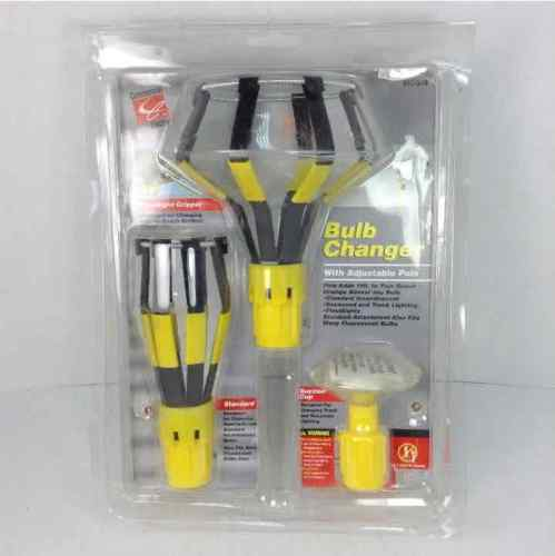 Commercial Electric Light Bulb Changer (3) Attachements NO Pole