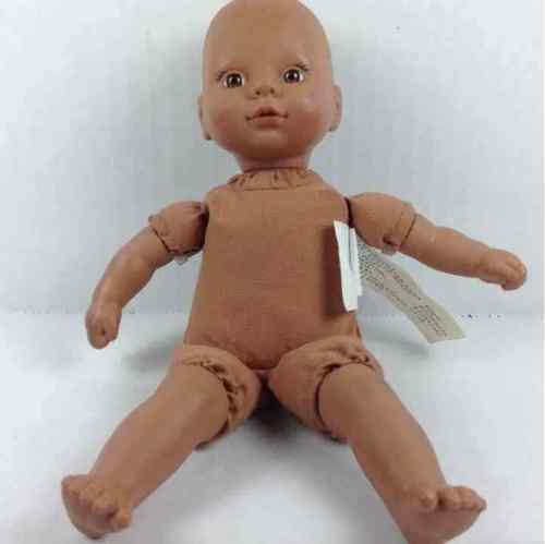 "Circo 1987 Cititoy 8"" Baby Doll Brown Eyes Small Soft Body"