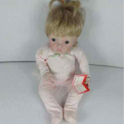 "Dianna Effner 1993 Ashton Drake Pink ""Sugar Plum"" Baby Doll Blonde ""As Cute As Can Be"" 76701-HT w/ Tag"