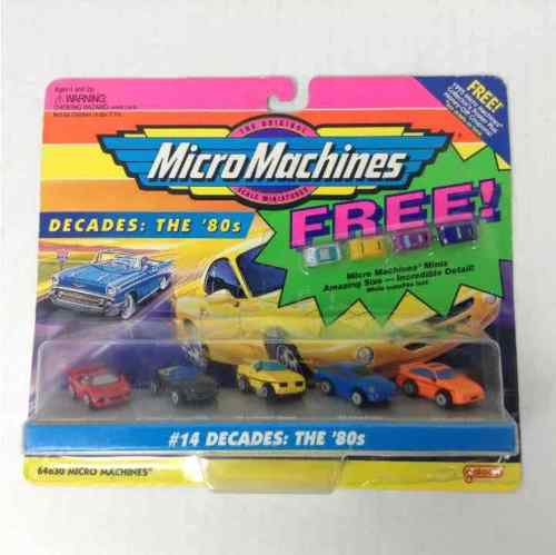 New Micro Machines 1995 The Original Scale Miniatures #14 Decades: The '80s Mini